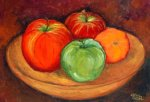 Apples on a Wood Platter, Painting Classes, NC
