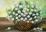 Painting Classes, Basket with Daisies