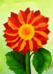 Painting Classes, Red Daisy