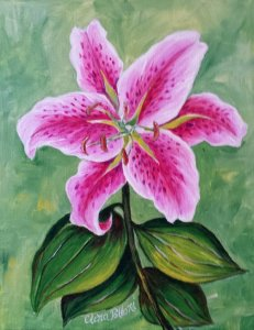 Painting Classes - Pink Lily