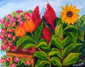 Painting Classes, Summer Flowers