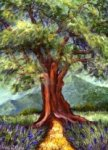 Painting Classes, Tree in a Field of Lavander