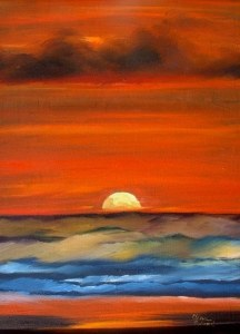 Wild Sunset-Painting Classes NC
