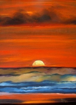 Wild Sunset-Painting Classes NC