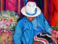 The Market Girl painting by Clina Polloni
