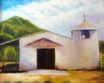 White Adobe Church