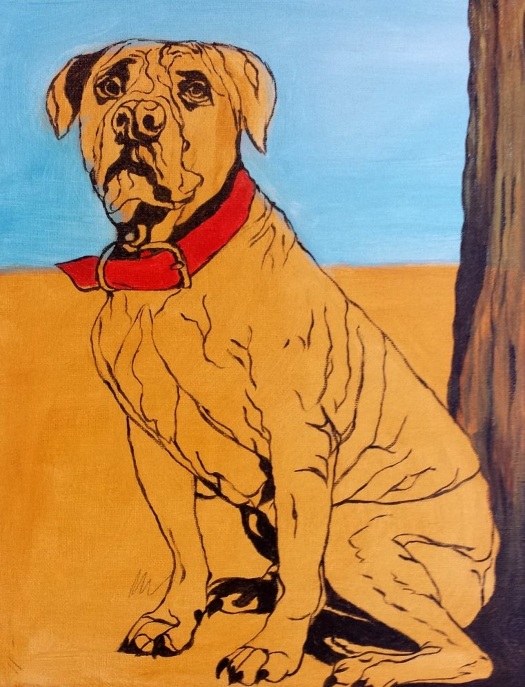 Murphy Pet Portrait Under Paint