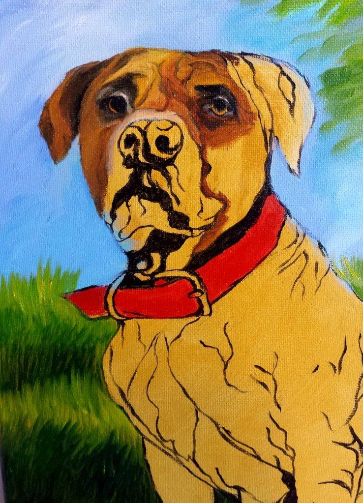Pet Portrait Murphy Face