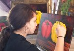 Lucy Conley Painting Peppers