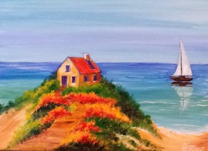 House in the Island Painting