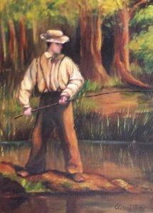 Man fishing in North Carolina