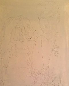 Wedding Oil Portrait Imprimatura