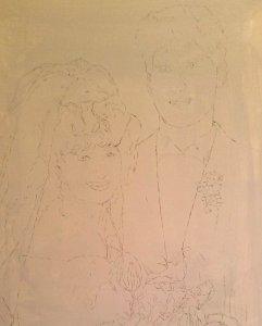 Wedding Oil Portrait Imprimatura