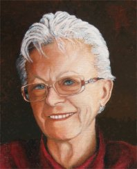 Oil Portrait of my mother Clina Becker