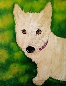 Drawing of Pet Portrait of Andi