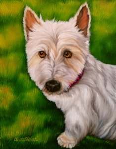 Oil Pet Portrait of Andi