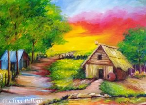 Learn to paint an 1800s Country Scene