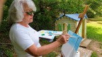 Plein Air painting class at Clina Polloni Studio