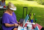 Plein Air painting class at Clina Polloni Studio