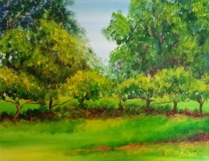 Plein Air Painting of Grapevines