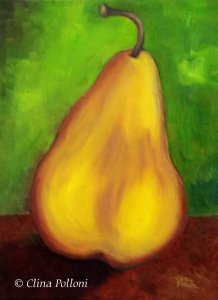 Gold Pear Painting