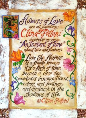 Flowers of Love Poem Painting
