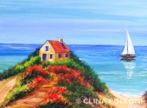 House in the Island NC Painting